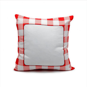 40*40 Sublimation Pillowcase Grid Blank White Pillow Case Heat Transfer Cushion Covers Square Throw Sofa Cover 130pcs DDA775