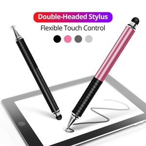 Evrensel 2 1 Stylus Kalem Çizim Tablet Kalemler Kapasiteli Ekran Caneta Touch Kalem mobil Android Telefon için Akıllı Kalem Aksesuarları