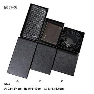 3 sizes Small Specialty Kraft Paper Box,Black Belt Wallet Box,Black Gift Box,DIY Handmade Packaging Base Box B035B