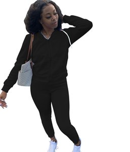 Designer Womens Sportswear Tracksuit Long Sleeve Jacket Pants Tow Pieces Set Hoodie Legging 2 Piece Set Outfits Bodycon Sports Set
