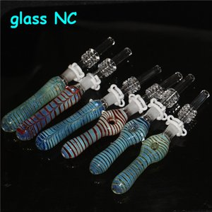 Glass Nectar Collector Mini Water Pipes with GR2 Titanium Nail glass ash catcher Dab Straw glass Pipe Oil Rigs