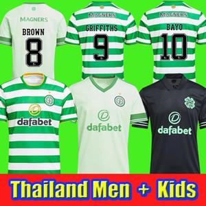 2020 2021 سلتيك لكرة القدم الفانيلة 20 21 MCGREGOR GRIFFITHS SINCLAIR FORREST BROWN ROGIC CHRISTIE كرة القدم الرئيسية ثالثا قميص الرجال الأطفال كيت.