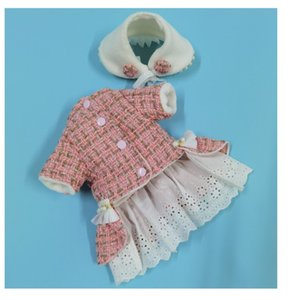2020 Autumn and winter new luxury small fragrance pet clothes with cotton insulation teddy bear dog skirt