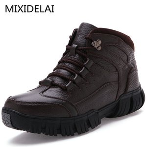 MIXIDELAI Super Warm Genuine Leather Winter Military Fur Boots For Men Shoes Zapatos Hombre 201222