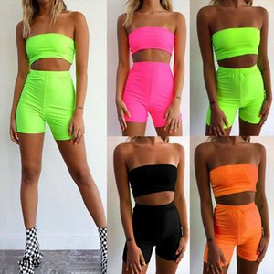 Summer Clothes For Women 2 PCS Srappy Crop Top Bodycon Shorts Co Ord Set Party Club Holiday Suit Women Two Piece Outfits