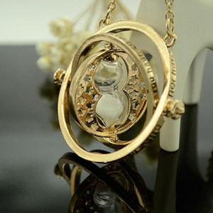 Harry Time Turter Potter Colar de ampulheta vintage Pingente Hermione Granger Gold Silver Colar