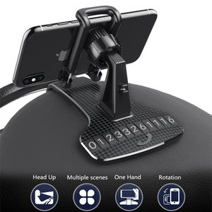 Dashboard Mobile Phone Bracket Temporarily Parking Moved Number Plate Hud Car GPS Clip Holder Spot for 6.8 Inch Cellphones