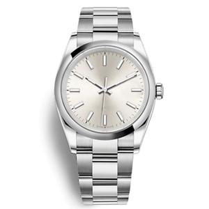 Oyster Perpetual Watches Hombre Alta Calidad Fiesta de Moda Gris Dial Mecánico Reloj de pulsera Original Cierre del presidente Montre Homme Cupón