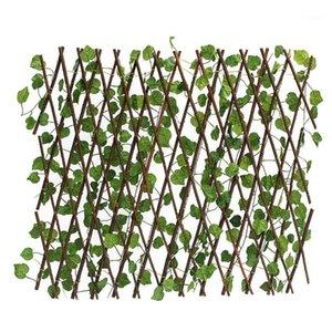 70 cm plantas artificiales Decoración extensión jardín jardín patio de hiedra artificial hojas hojas de hojas rama verde neta para la pared de la casa Garden1