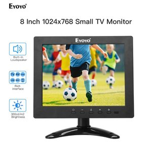 "Eyoyo S801 8 ""HDMI TV 모니터가 1024x768 CCTV 4 : DVD PC CCTV 보안 카메라의 HDMI VGA USB의 AV 스피커 디스플레이 3 LCD 화면"