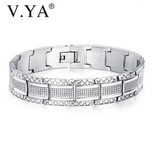 V. YA elegante pulseira de aço inoxidável ajustável DIY braceletes customizáveis namorados namorado melhor jóias