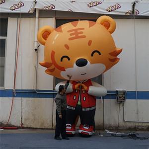 Historieta inflable gigante del tigre con la tira del LED Influfables modelo animal con el soplador CE para la decoración de la etapa de la club nocturna