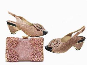 Dernier or rose Hauts talons hauts femmes chaussures avec sac d'embrayage Nice pompes et sac à main sac à main GL1030 hauteur 6cm