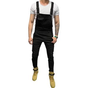 Erkek Jeans tulum tirantes cebi #W ile erkekler siyah asker yeşili 2020 erkek giyim Erkek Pantolon için para pantolon kot hombre