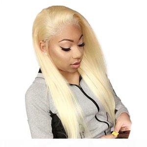 Fantasy Beauty 613 Peruk 360 Dantel Frontal İnsan Saç Peruk Siyah Kadınlar Için Ön Partili Ağartılmış Knot Perulu Düz Sarışın Peruk Remy Saç