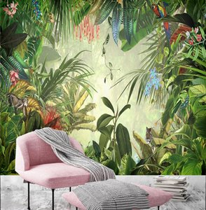 Wallpaper AL-MULK Wallpaper Mural Self-adhesive Rainforest Leaf FQ229 Interior Decoration Modern Pastoral Style Multiple Sizes Available