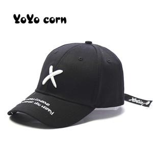 Yoyocorn tapa de béisbol letra graffiti gorras de sol caídas hop tapa visera sombrero de primavera hombres snapback ajustable casquillo de algodón para mujeres hatsq1228