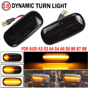 2 pieces Led Dynamic Side Marker Turn Signal Light Sequential Blinker Light For Audi A3 S3 8P A4 S4 B6 B7 B8 A6