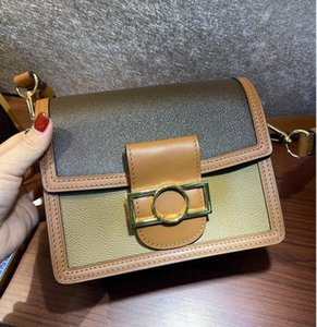 Venta caliente de la calidad superior 20 cm 25 cm de moda DAUPHINE Handbags moneders Classic Metal Passp Bag Women Tote Real Leather Lady Bags Bags