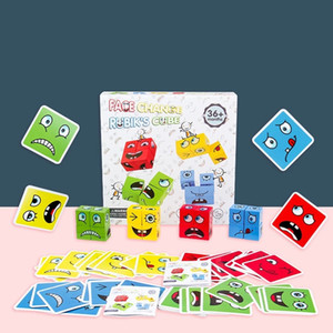 Montessori Wooden Expression Building Blocks Early Learning Preschool Teaching Intelligence Match Toy education logical thinking AA