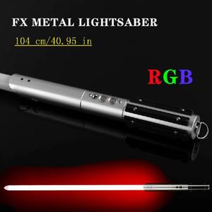 104 см Lightaber Jedi Sith Light Saber Force FX Освещение тяжелого дуэли Sound FOC Заблокировать металлическую ручку фиксированного цвета / RGB Lightsaber Q0113
