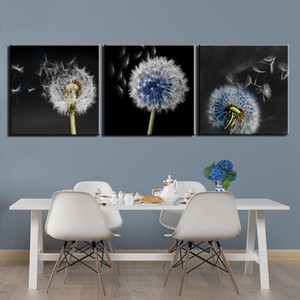 3 Pieces Dandelion Painting On Canvas Wall Art HD Prints Still Life Posters Wall Pictures for Living Room Artwork