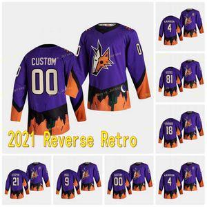 Arizona Coyotes 2021 Retro Oliver Retro Ekman-Larsson Clayton Keller Christian Dvorak Shane Doan Carl Soderberg Phil Kessel Jerseys