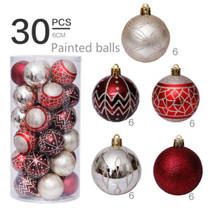 30pcs Christmas Drops Ornaments Festival Party Xmas Tree Hanging Decorations 2020 Christmas Hanging Ornaments Family Personalized Ornament