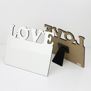 MDF Digital shape medium density composite board material sublimation blank photo frame and heat transfer photo frame for gifts