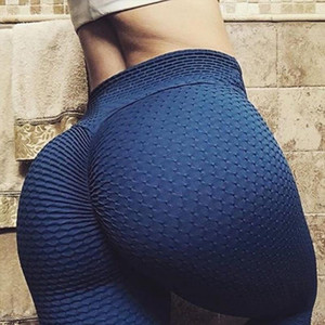 Sexy Leggings a vita alta Yoga Workout Scrunch Booty Leggings Le donne Skinny Peach Hip Pantaloni Fitness Gym abbigliamento