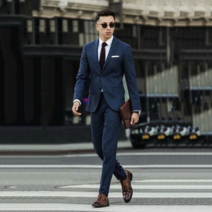 SoDigne Mens Suit For Wedding Groom Groomsmen Tuxedos Men Formal Prom Office Party Slim Blazer Suit (Jacket+Pants)