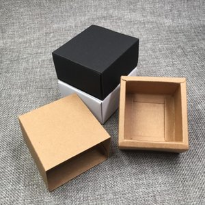 20pcs Kraft Brown White Black Paper Drawer Gift Boxes Diy Handmade Soap Craft Candy Packaging Boxes Party Favors Storage Box wmtnSq pthome