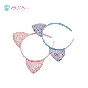 Accesorios para el cabello de los niños de las lentejuelas de las lentejuelas del gato de la oreja del gato