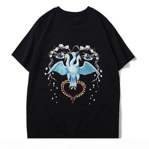 Mens T Shirt Hip Hop Bird Printing Mens Stylist T Shirt Short Sleeve High Quality Men Women T Shirt Polo Size S-XXL