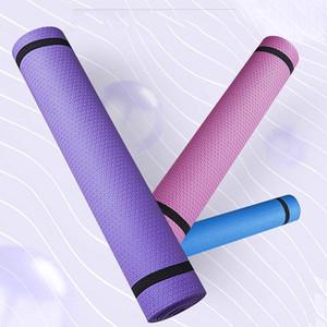 الحصير اليوغا 183 * 60 * 4 ملليمتر حصيرة إيفا عدم الانزلاق الرياضية وسادة الرطوبة واقية المذاق تجريب ممارسة السجاد المنزل رياضة اللياقة البدنية