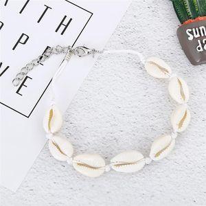 Vsco Puka Shell Anklets For Vsco Girl Woven Natural Shells Hawaiian Style Casual Hand Ornament Beach Seashell Anklets