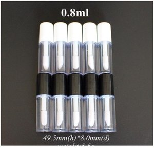 Yüksek Kalite 30 adet 0.8ml Plastik Dudak Parlatıcısı Tüp Sızdırmaz İç Örnek Kozmetik Conta Qyltfw Ile Küçük Ruj Tüpü