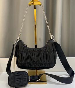 ascellare spalla della borsa messenger bag bagwallets handbag2 pezzi in pelle sacco per cadaveri trasversale pieghe moda borsa donne borse griffate