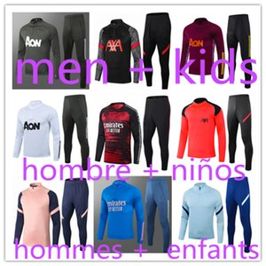 hommes +  enfants survêtements de marque pour hommes manchester united jerseys training Manchester City man utd retro maillot chelsea tracksuit kids survetement survêtement