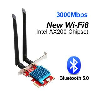 3000Mbps Wifi 6 адаптер AX200 Wifi антенна двухдиапазонный 2.4G 5 ГГц Wi-Fi сетевой карты Bluetooth 5.0 PCIE 802.11ax переменного тока Wi-Fi для игр