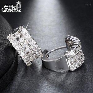 Effie Queen Fashion Women Pendientes de lujo Color de plata Cristal Zircon Stud Pendientes Declaración Joyería al por mayor DDE231