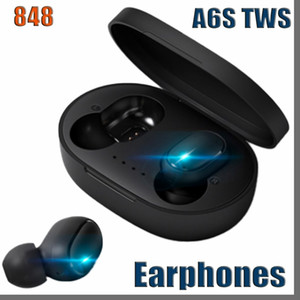 848D A6S Wireless Earphone Sports Earbuds Bluetooth 5.0 TWS Headsets Noise Cancelling Mic For Huawei Samsung tws headphones