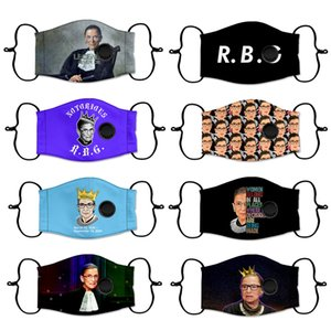 Adult Ruth Bader Ginsburg Justices of the United States mask dustproof printed washable reusable polyester mask with breathing valve