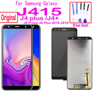 Montaj J4 artı J610 J6 Prime lcd için Samsung Galaxy J4 + J415 SM-J415F J415FN LCD Ekran Dokunmatik Ekran Orjinal