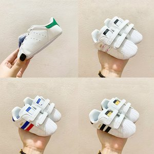 New Born Baby Age 1-3 years Old Baby Stan Smith Shoes Cloud White Green Blue Size 18-21 Baby Toddler Shoe New Sneakers