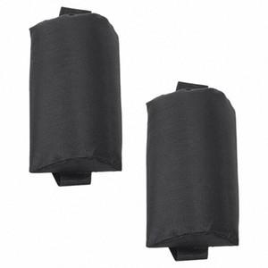 2X pieghevole Sling Lounge Chairs Black Head cuscino Per esterni Sdraio da spiaggia eXof #