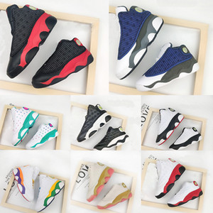 13s New Born Baby Playground True Red Toddlers bred Flint Small Kids Newborn Basketball Shoes Infant 13 big boy Girl Aurora Green Sneaker