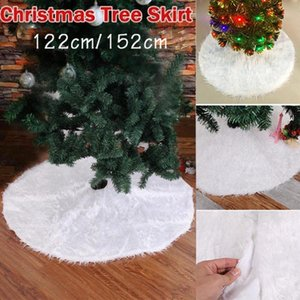 Christmas Plush Long Haired Christmas Tree Skirt dress Decor Xmas Home Party Decorations Festival Ornaments Tree Skirts #1104