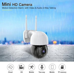 WIFI IP Camera HD 1080P Outdoor Security Camera Two Way Audio 4x zoom Infrared 8 Lights Night vision Hemisphere CCTV