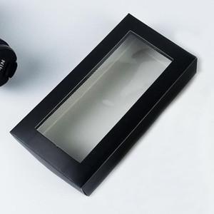 Caixas de presente de papel com caixa de empacotamento de janela claro para meias cartões cartões cueca caixas de armazenamento ewe1988